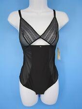 Passionata Lace Adjustable Cut Out Strap Bodysuit Black Size Medium New 3653