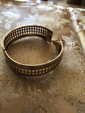 Frierich Victorian Reproduction Gold Plate Filagree Bracelet