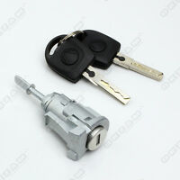 VW MK4 GOLF BORA DOOR LOCK SET 1 BARREL + 2 KEYS FRONT LEFT NSF PASSENGER SIDE
