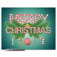 J9620AXSG Jumbo Christmas Card: Christmas Greetings With Envelope greeting cards