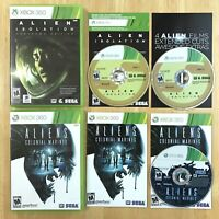 Alien Isolation & Aliens Colonial Marines Xbox 360 Complete Manual Insert Tested