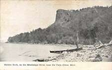 Twin Cities Minnesota Maiden Rock Mississippi River Antique Postcard K64177