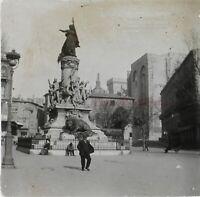Francia Avignon Place Monumento c1920 Foto Stereo Placca Da Lente VR12hc