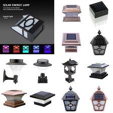 Retro Solar LED Wall Lamp Waterproof Outdoor Fence Home Garden Lantern Light