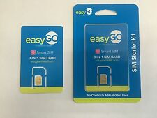 EasyGo Triple sim card (mini, micro, nano) at&t prepaid powered by H2O wireless