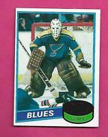 1980-81 TOPPS # 31 BLUES MIKE LIUT GOALIE ROOKIE NRMT+ CARD (INV# C8321)