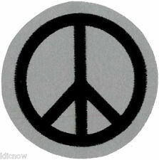 """PEACE / CND / Reflective embroidered Patch 6CM Dia (2 1/4 Dia"""")"""