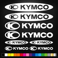 COMPATIBLE KYMCO 12 Autocollants Adhésifs Auto Moto Voiture Sponsor Marques