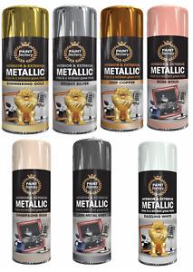 Metallic interior and exterior aerosol spray paint by Paintfactory