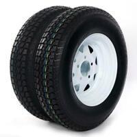 2-Pack Trailer Tire On Rim ST175//80D13 1758013 B78-13 LRC 5 Lug White Modular
