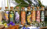 Natural Sabbat incense vials, wicca, dried herbs, witchcraft, pagan