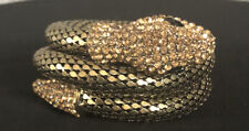 tone Snake bracelet With Diamantes Vintage style jewellery Black And gold