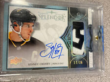 """17/18 UD Splendor Pittsburgh Penguins, Sidney """"the kid"""" Crosby #17/36 Patch Auto"""