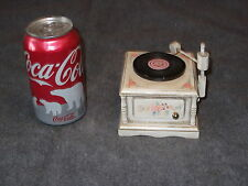 Enesco 1983 Phonograph Record Player Shaped Music Box, IN THE GOOD OLD SUMMER