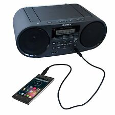 Sony ZS-RS60BT CD/MP3 AM/FM Bluetooth NFC Radio Personal Audio Boombox System