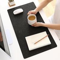 Gaming Mauspad Anti-Rutsch Mousepad Mausunterlage Einfach Schwarz Filz 630*325mm
