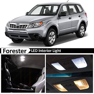 10x White Interior LED Lights Package Kit for 1998-2014 Subaru Forester