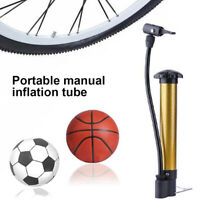 LT_ HIGH PRESSURE PORTABLE BYCYCLE TIRE BASKETBALL FOOTBALL MANUAL AIR PUMP IN
