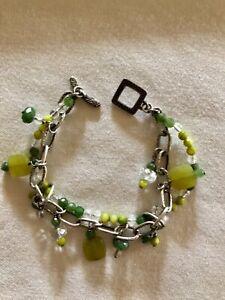 Silpada Jade & Sterling Silver Bracelet