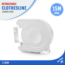 15m Retractable Clothesline Clothes Airers Rope Clothline Laundry Hanging Line