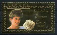 Briefmarke Grenada England's Rose Princess Diana 1961 - 1997 22 K BR175