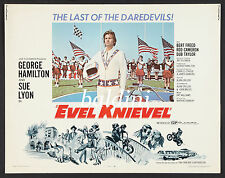 EVEL KNIEVEL - HIGH QUALITY EARLY VINTAGE 1971 MOVIE POSTER - LOOKS GREAT FRAMED