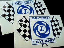 British Leyland accidentada Bandera Carrera Rally Coche Clásico pegatinas 2 De 150 Mm