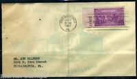 UNITED STATES PHILADELPHIA, PA 9/17/1937 COVER WITH INDEPENDENCE HALL AS SHOWN