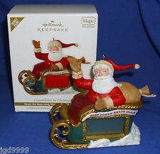 Hallmark Ornament Countdown to Christmas 2012 Santa Sleigh Light Sound New w Box