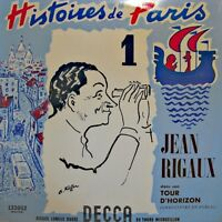 ++JEAN RIGAUX histoires de paris LIVE LP 25cm DECCA tour d'horizon 1 VG++