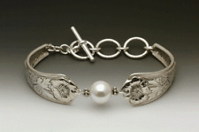 SILVER SPOON LAUREL TOGGLE BRACELET WITH SWAROVSKI PEARL