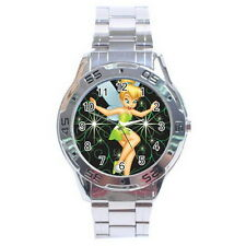 Tinker Bell Stainless Steel Analogue Watch for Men NEW Fashion Gift HOT