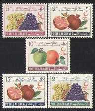 Afghanistan 1961 Red Cross/Medical/Fruit 5v set  n27616