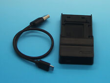 USB Battery Charger For NP-FH50 Sony DCR-SX34E DCR-SX43E DCR-SX44E DCR-SX45E
