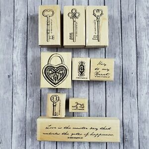 Stampin Up KEY TO MY HEART RETIRED SET 1999
