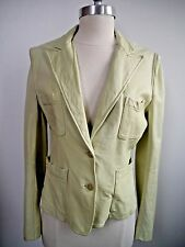 DONNA KARAN COLLECTION pale green BUTTER SOFT lambskin leather jacket size S