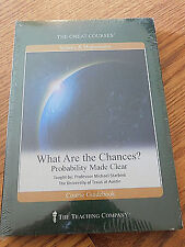 The Great Courses What Are The Chanches? Probability Made Clear DVD Sealed