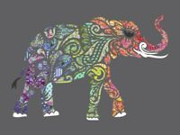 Madi Hastings All Stars Elephant Holi Ganesha Laser Pre-Cut Pre-Fused Quilt Kit