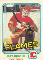 1981-82 O-Pee-Chee Pat Riggin Rookie Calgary Flames #37