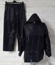Mens Modern Branded Nacy Waterproof Zip Up With Matching Pants Black Knight 015