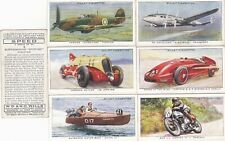 Cigarette Cards WILLS: 1938 SPEED (DIFFERENT) (Full Set).