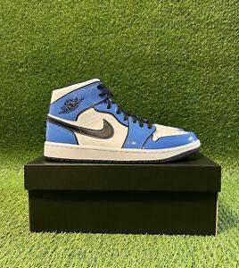 Nike Air Jordan 1 Mid Signal Blue UK 9