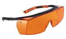 Univet 5X7 Ultimate Overspecs Italian Safety Orange Work Glasses (5X7.03.00.04)