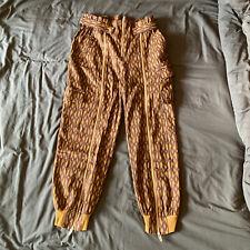 adidas x Ivy Park Beyonce Monogram Zipper Pants Brown Medium M UK14 HB8432 BNWOT