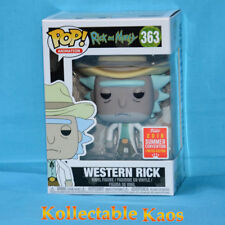2018 SDCC SCE Funko Pop Western Rick #363 and Morty Vinyl Figure