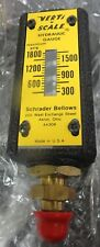 Schrader Bellows  61B-0010 Upright Hydraulic Gauge 300-1800