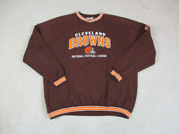 VINTAGE Cleveland Browns Sweater Adult 2XL XXL Brown Orange NFL Football Men 90s