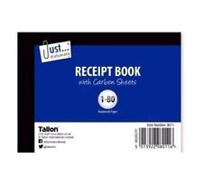 DUPLICATE RECEIPT BOOK Numbered Pages 1-80 + 2 Sheets Carbon Paper Reciept (D3)