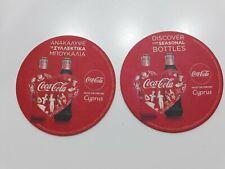 Coca Cola Coke beer mats coasters Cyprus Greek