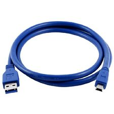 Blue Superspeed USB 3.0 Type A Male to Mini B 10Pin Male Adapter Cable Cord LWUS
